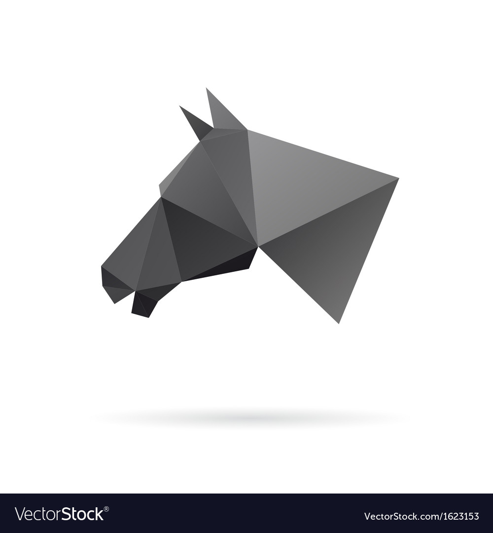 Horse head abstract isolated on a white background vector | Price: 1 Credit (USD $1)