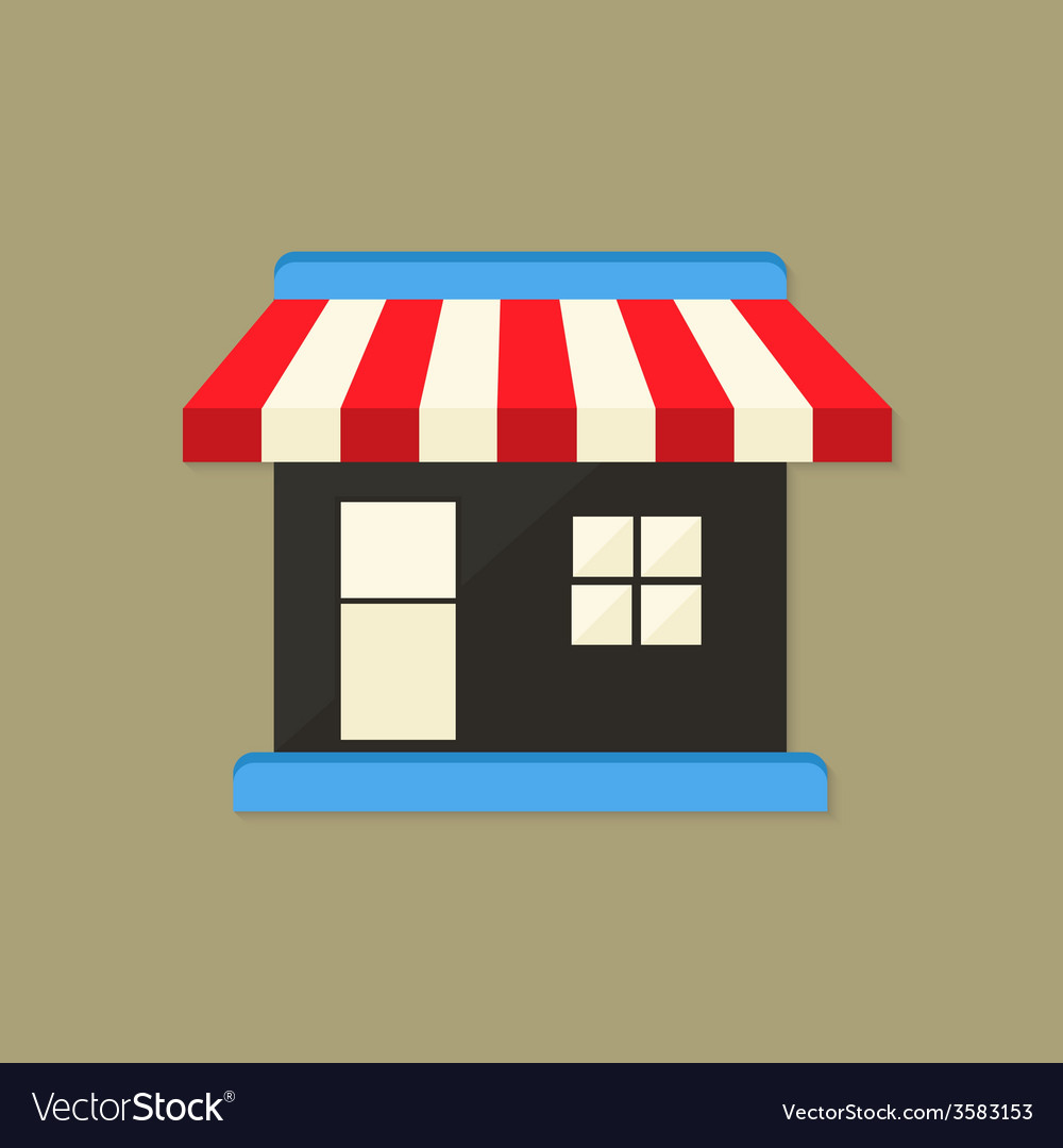 Market shop flat icon vector | Price: 1 Credit (USD $1)