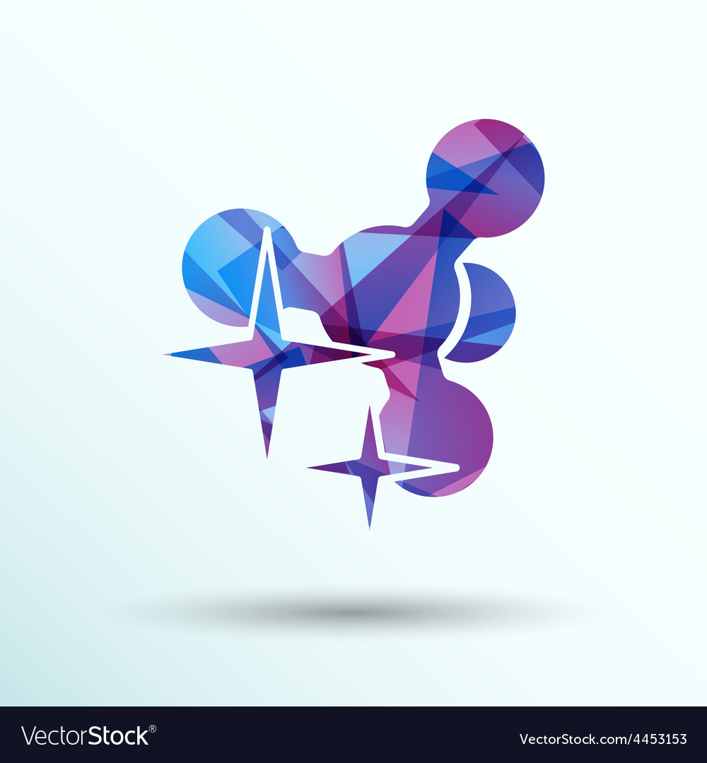 Molecule icon isolated glossy shiny atom vector | Price: 1 Credit (USD $1)