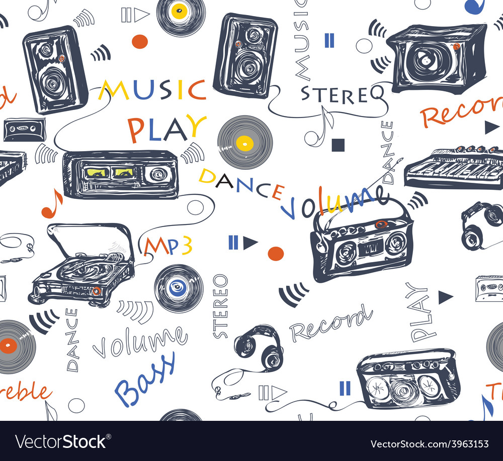 Music pattern vector | Price: 1 Credit (USD $1)