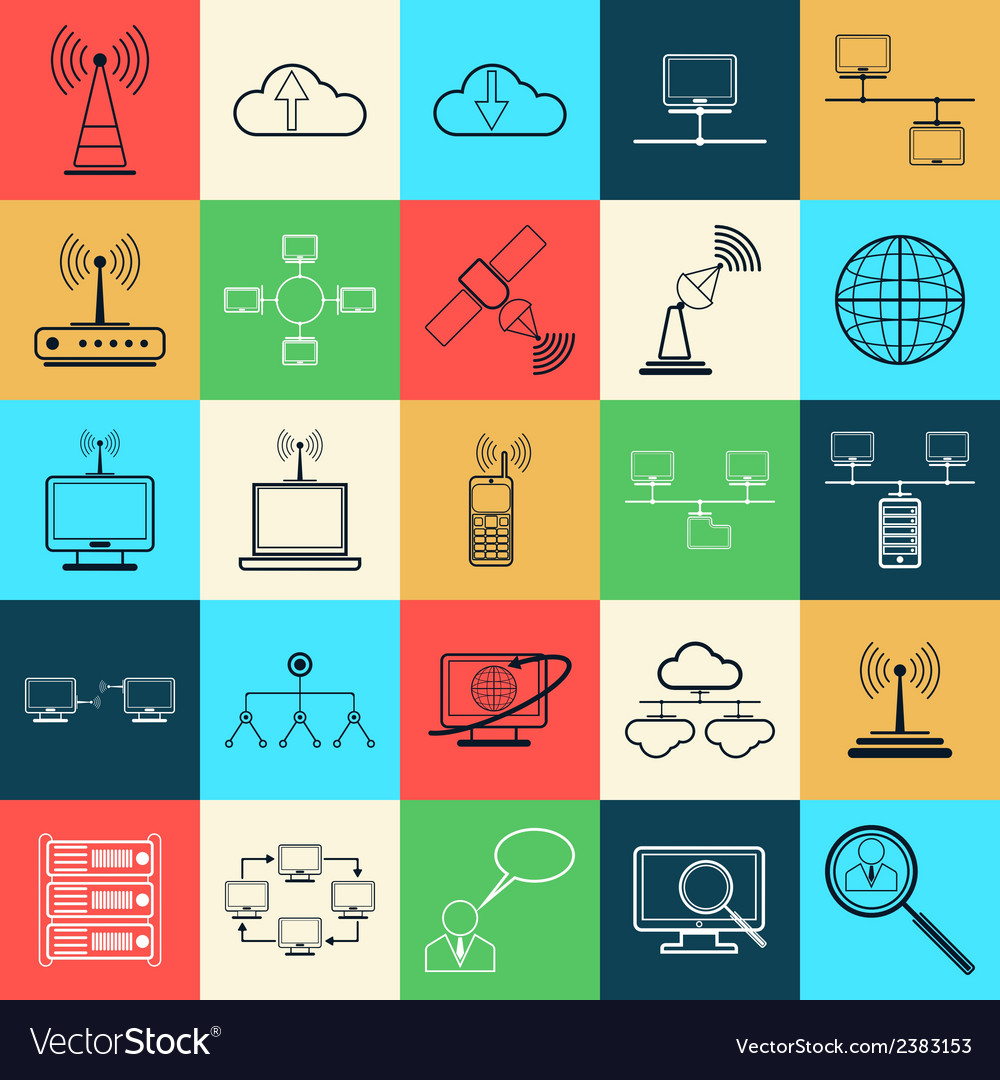 Network web icons vector | Price: 1 Credit (USD $1)