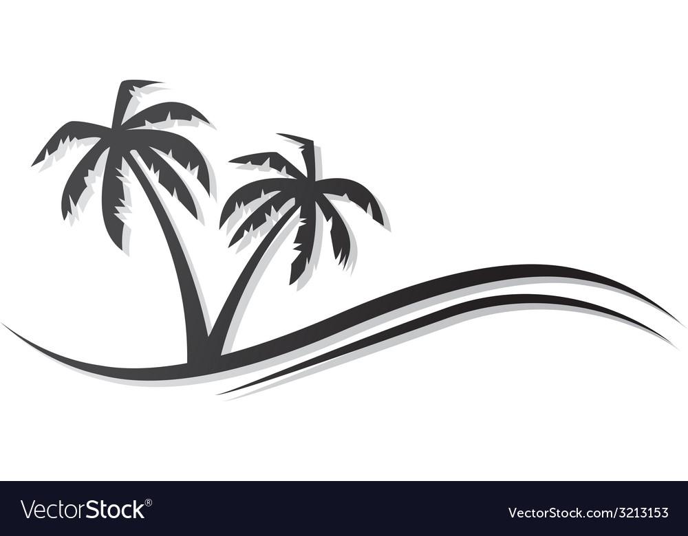 Palms black vector | Price: 1 Credit (USD $1)