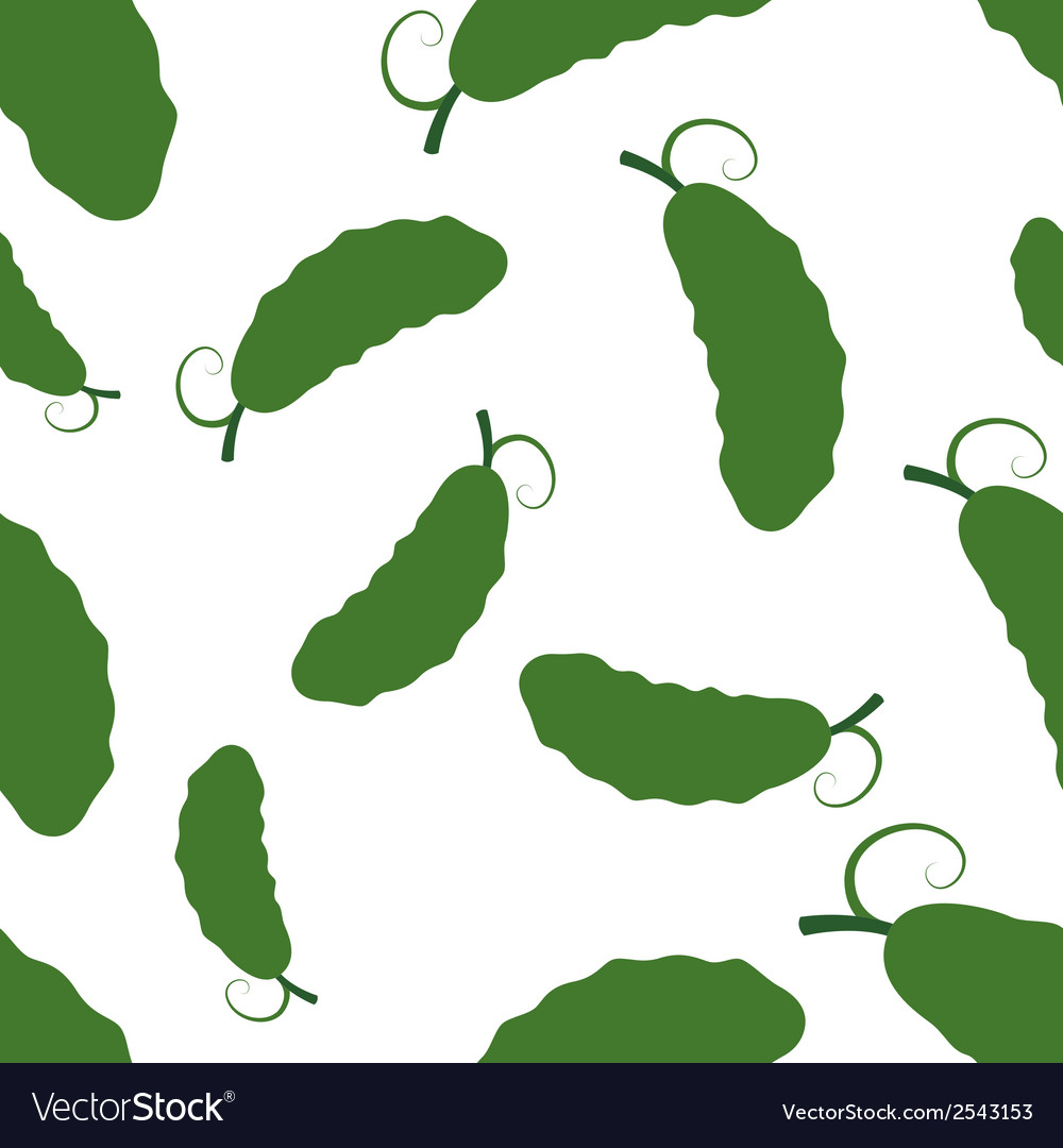 Pattern silhouette cucumber vector | Price: 1 Credit (USD $1)