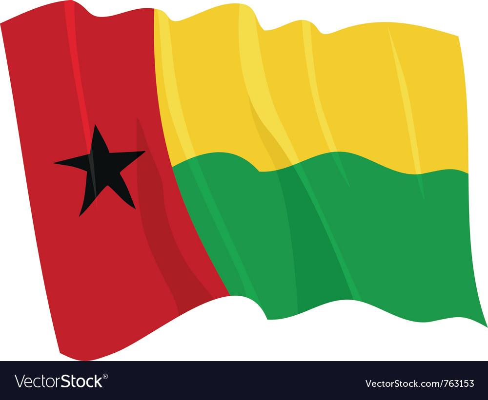Political waving flag of guinea-bissau vector | Price: 1 Credit (USD $1)