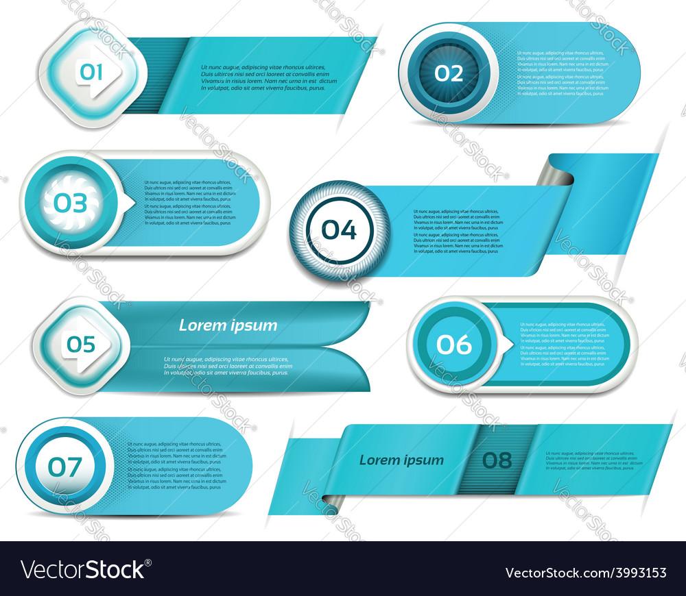 Set of blue progress version step icons eps 10 vector | Price: 3 Credit (USD $3)