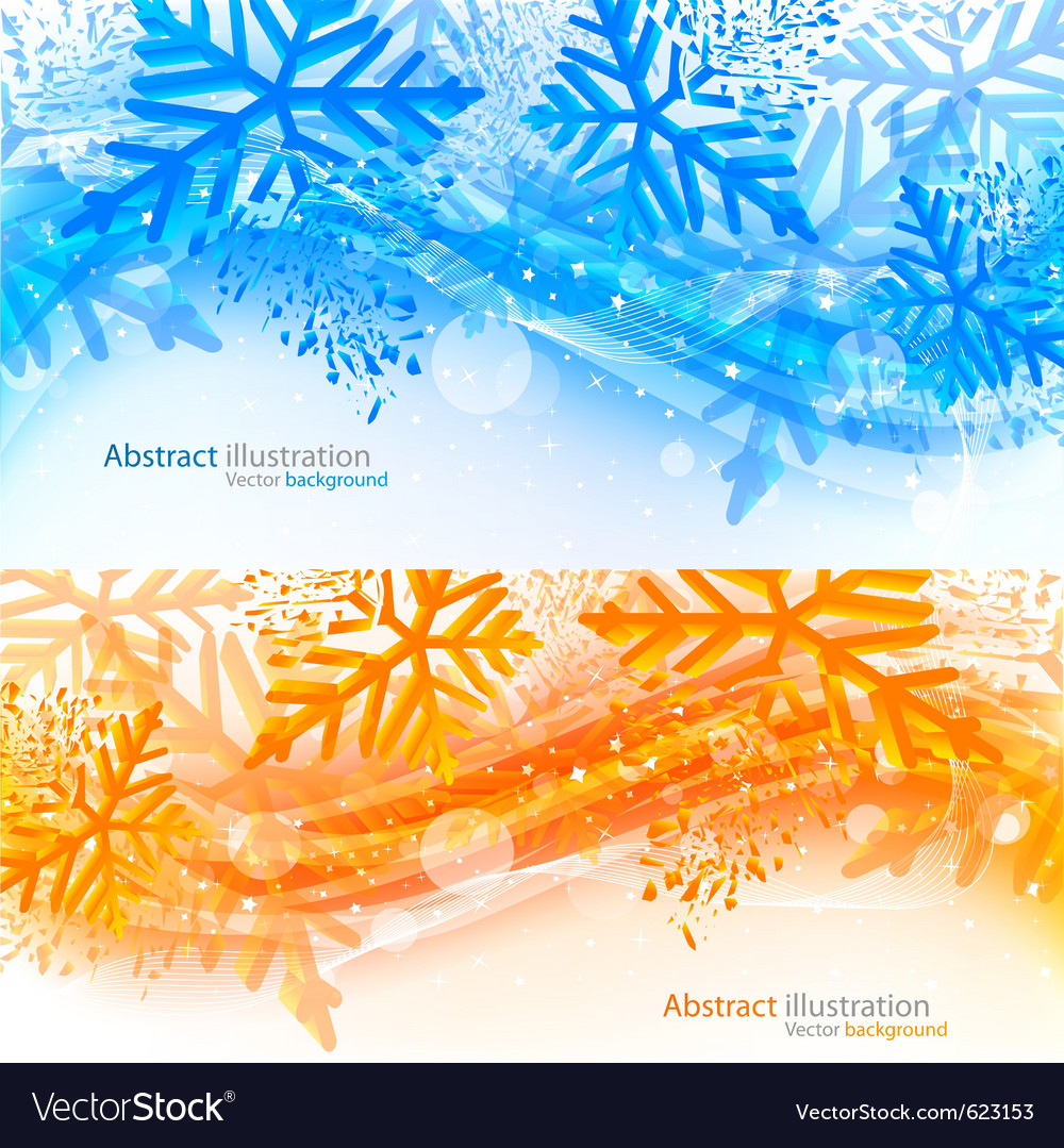Set of xmas banners vector | Price: 1 Credit (USD $1)