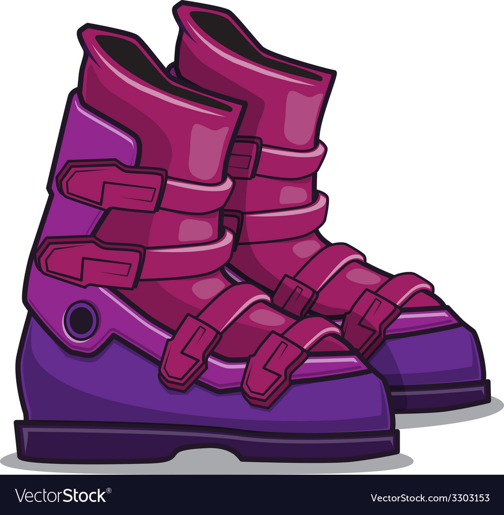 Ski boots vector | Price: 1 Credit (USD $1)