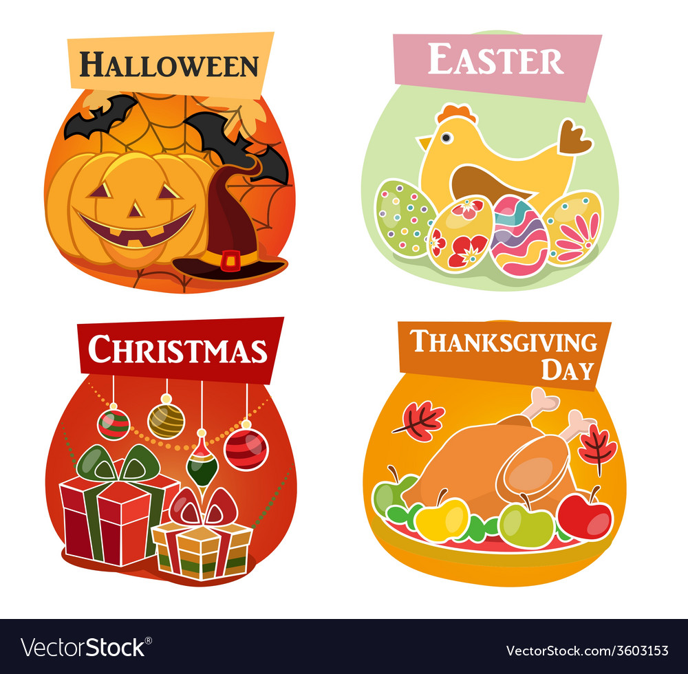 Thanksgiving day easter halloween vector | Price: 1 Credit (USD $1)