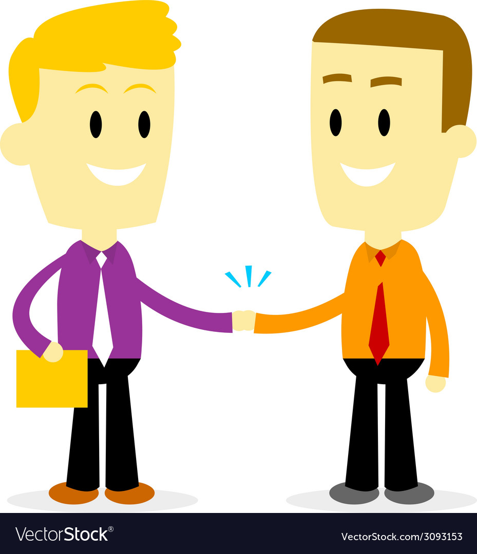Two businessman shaking hand vector | Price: 1 Credit (USD $1)