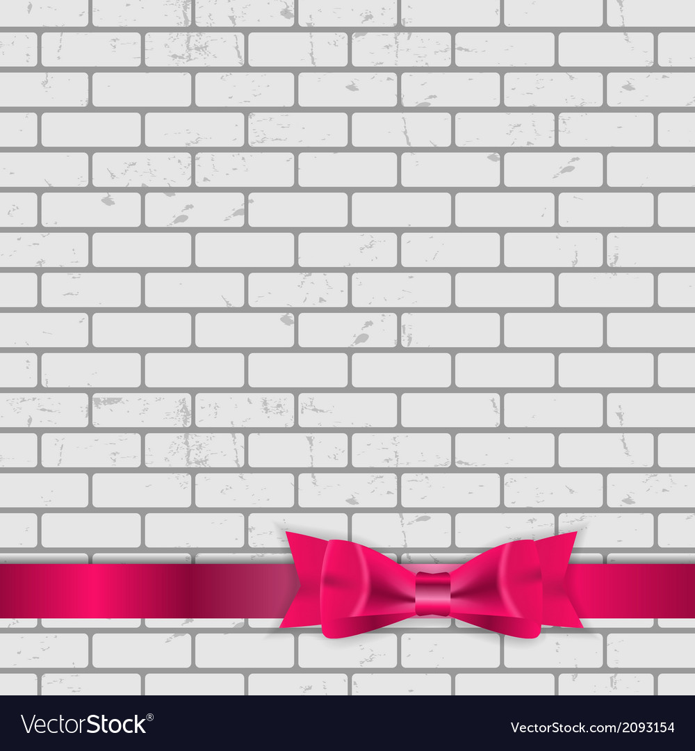 Background of brick wall texture with bow and vector | Price: 1 Credit (USD $1)