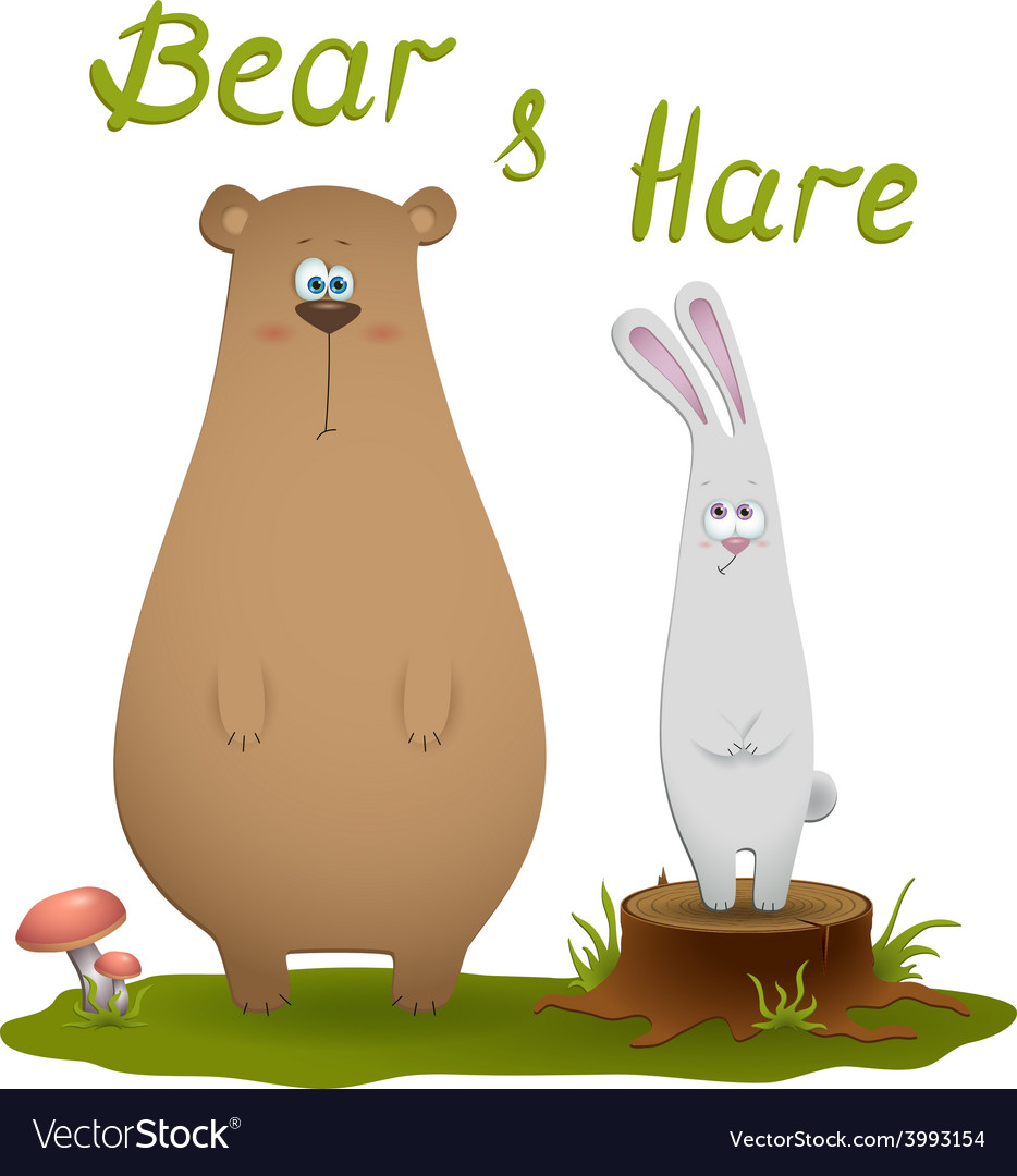 Bear and hare vector | Price: 1 Credit (USD $1)