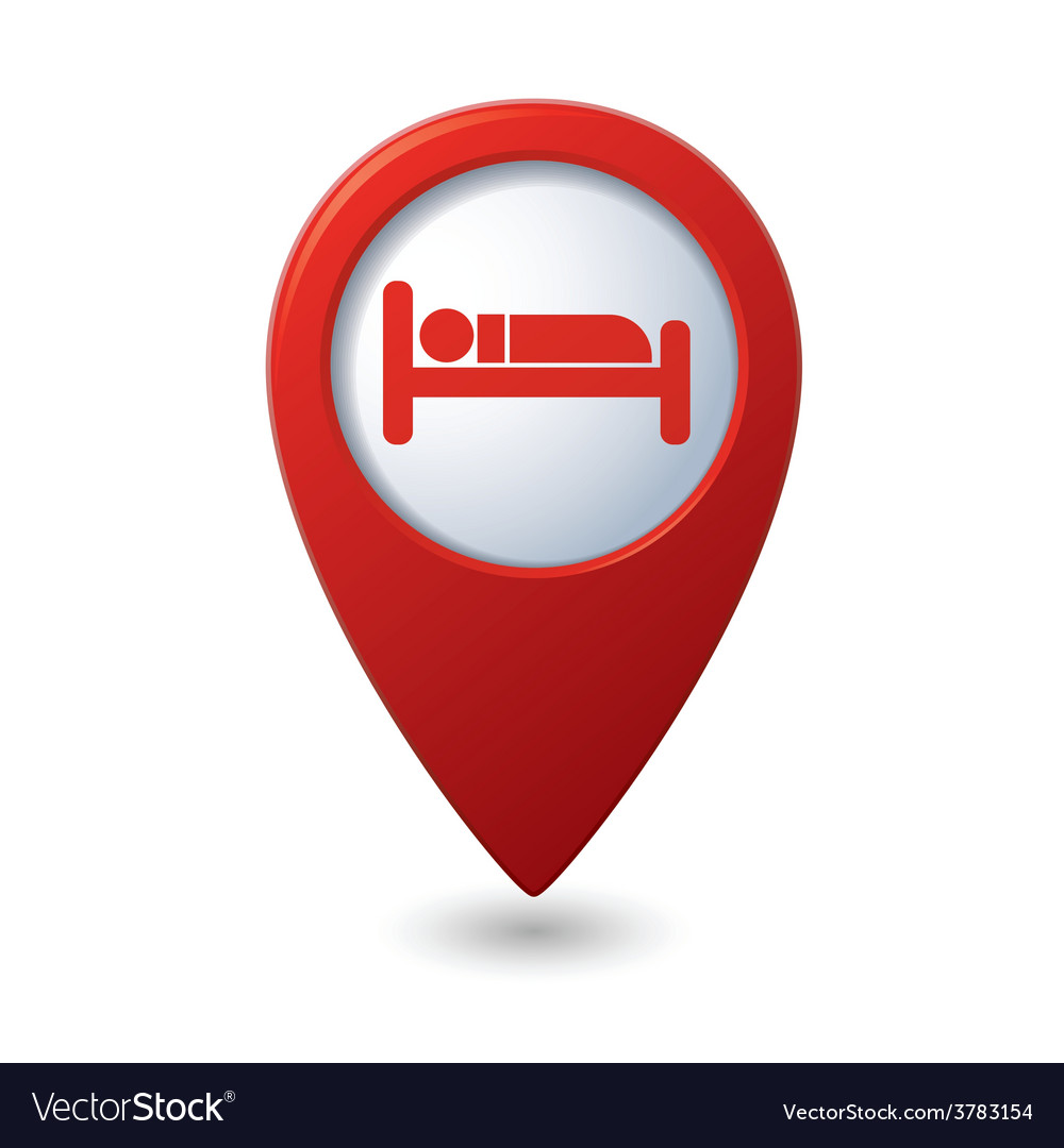 Bed red pointer vector | Price: 1 Credit (USD $1)