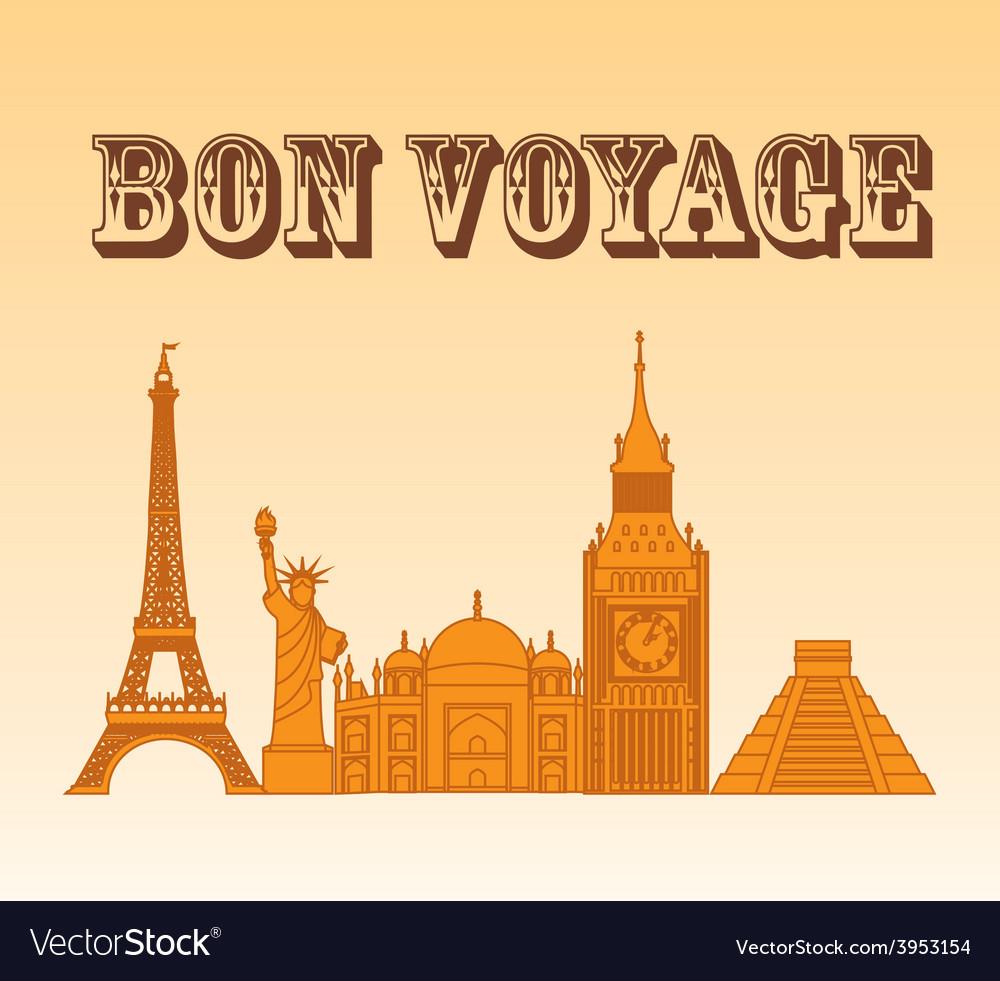 Bon boyage vector | Price: 1 Credit (USD $1)