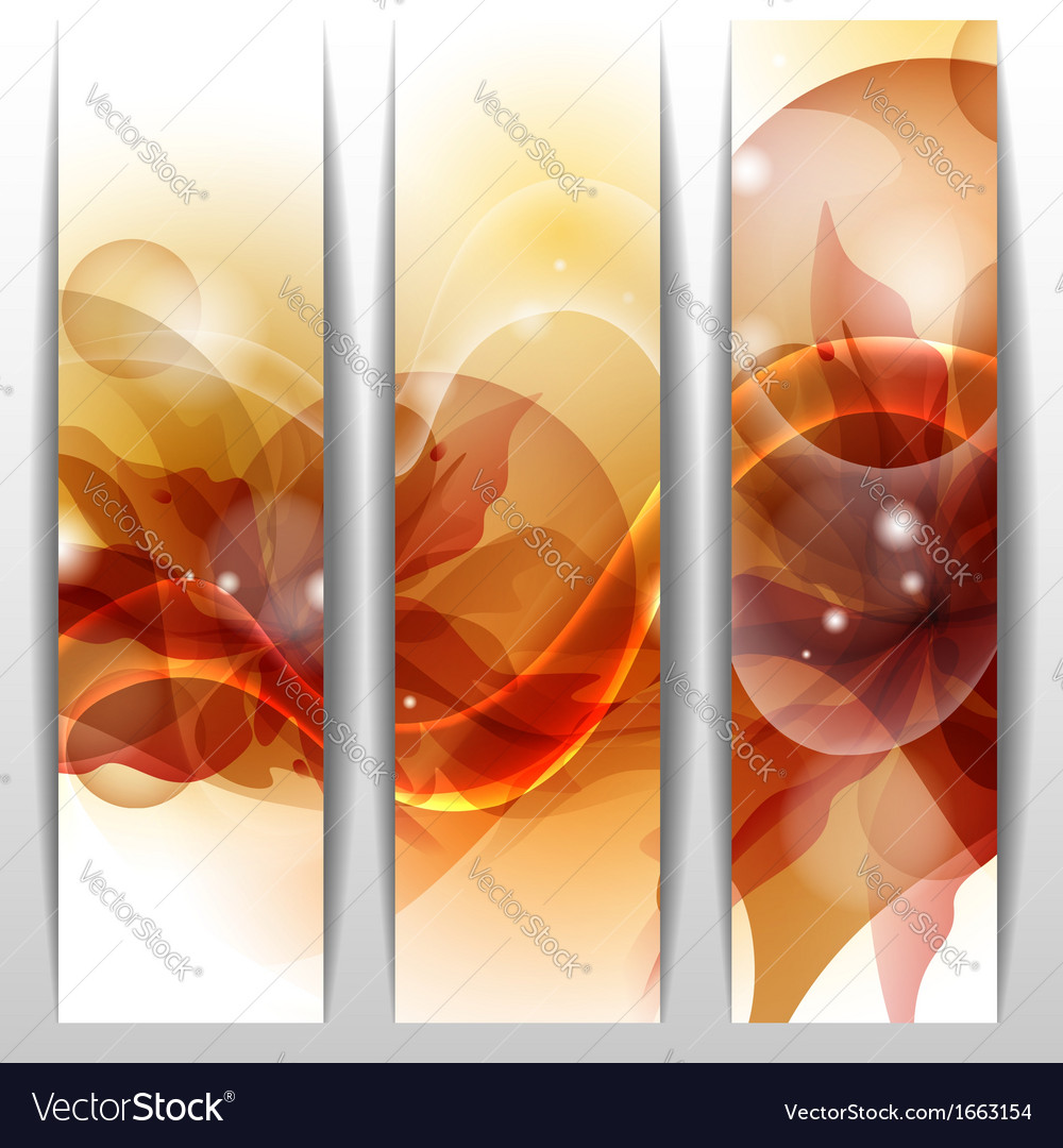 Floral summer banners vector | Price: 1 Credit (USD $1)