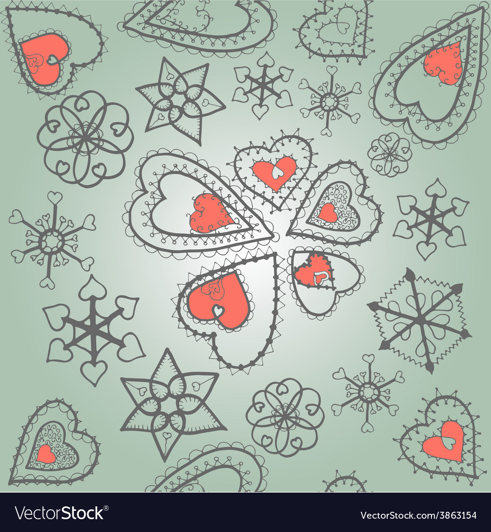 Heartssnowflakes06 vector | Price: 1 Credit (USD $1)