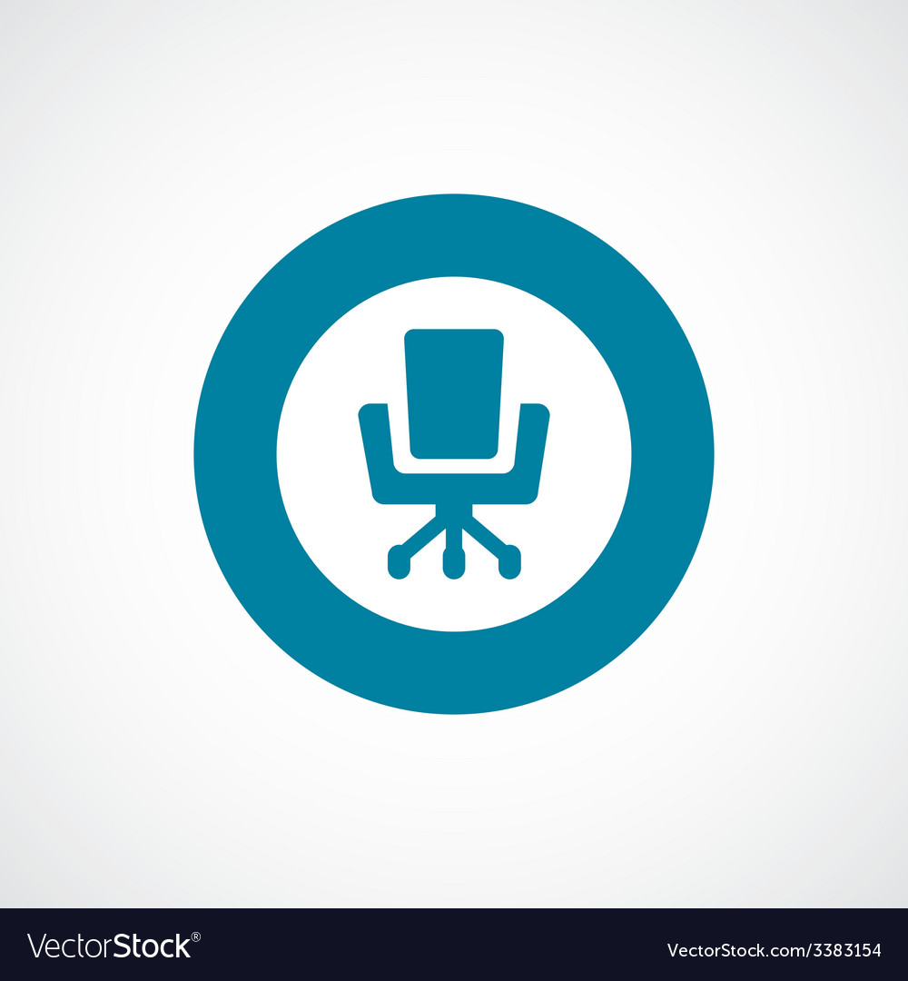 Office chair bold blue border circle icon vector | Price: 1 Credit (USD $1)