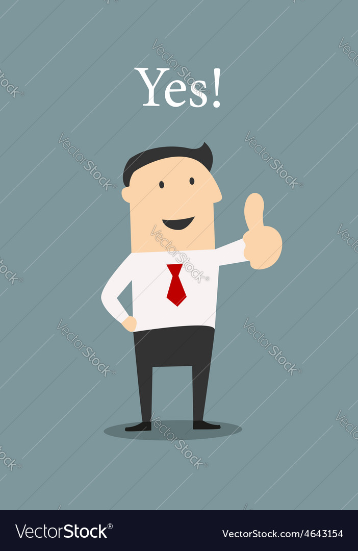 Positive businessman giving a thumbs up vector | Price: 1 Credit (USD $1)