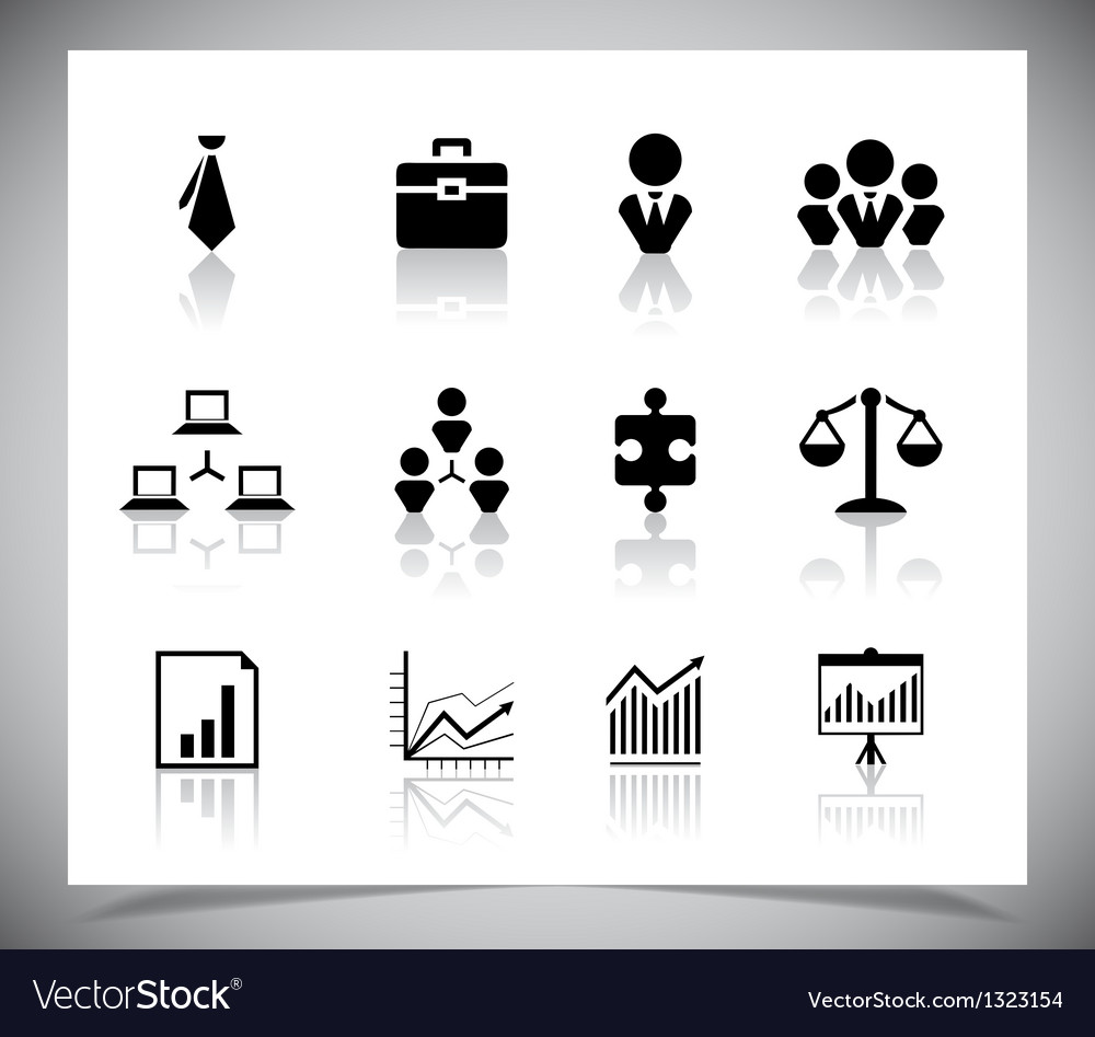 Set of business icons vector | Price: 1 Credit (USD $1)