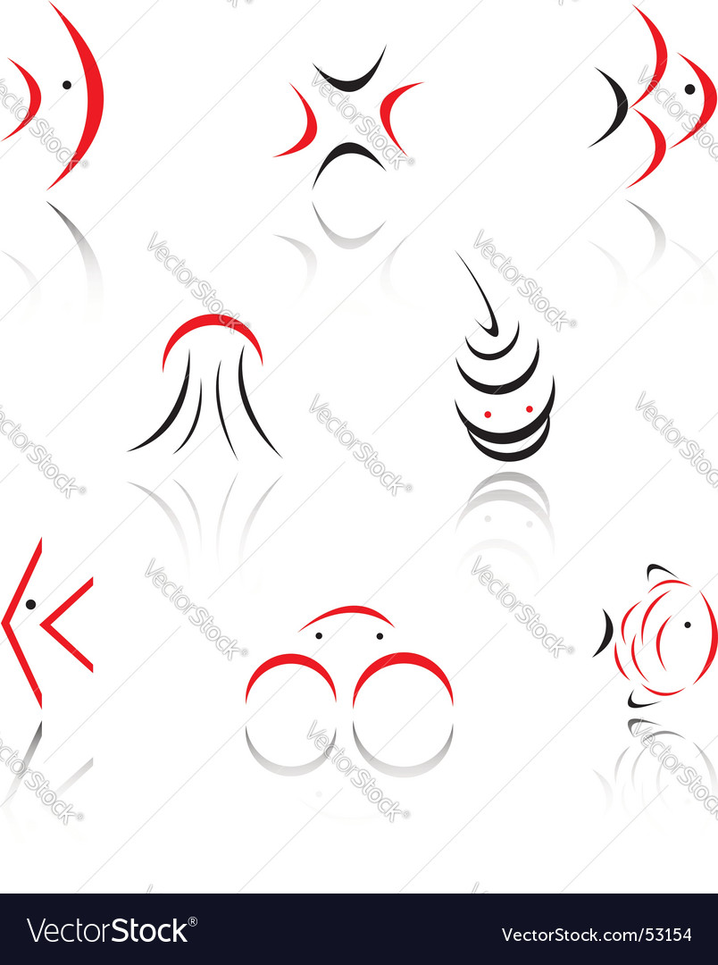 Set of symbols vector | Price: 1 Credit (USD $1)
