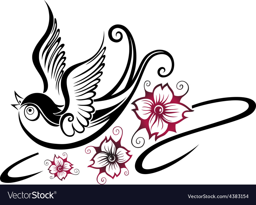 Swallow spring vector | Price: 1 Credit (USD $1)