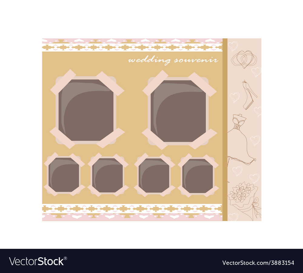 Vintage wedding album design vector | Price: 1 Credit (USD $1)