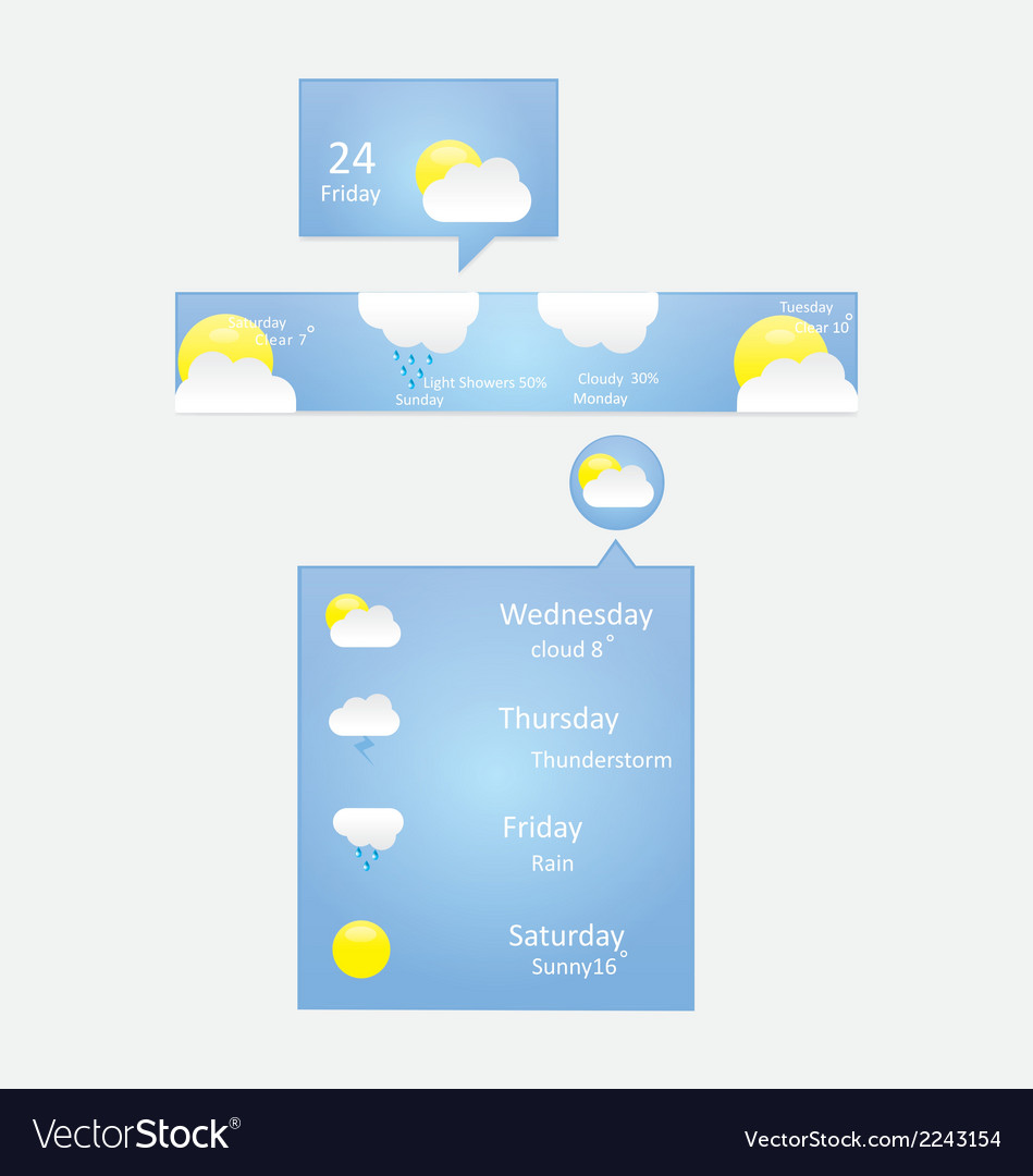 Weather menu vector | Price: 1 Credit (USD $1)