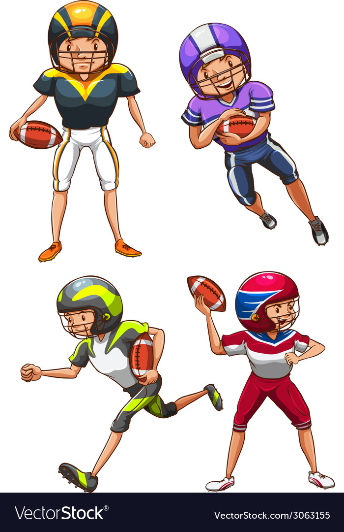 A simple coloured sketch of the american football vector | Price: 1 Credit (USD $1)