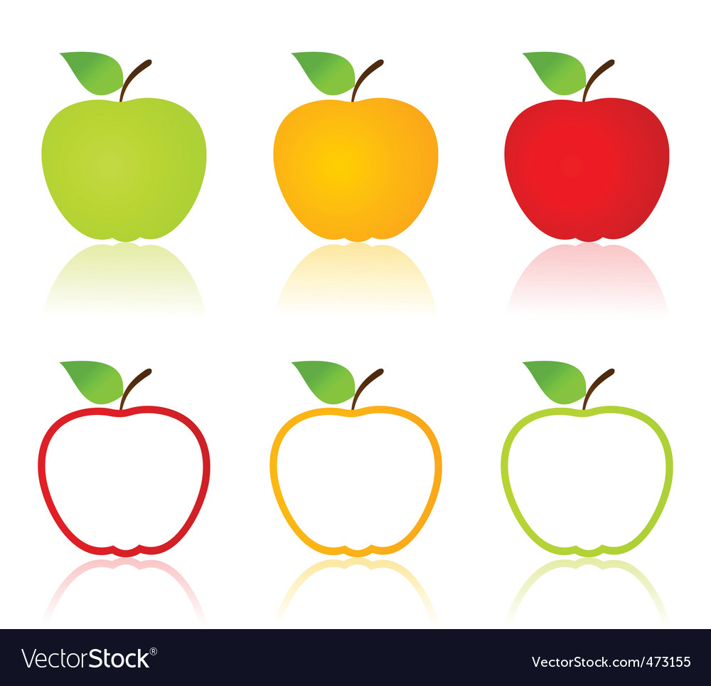 Apple icons vector | Price: 1 Credit (USD $1)