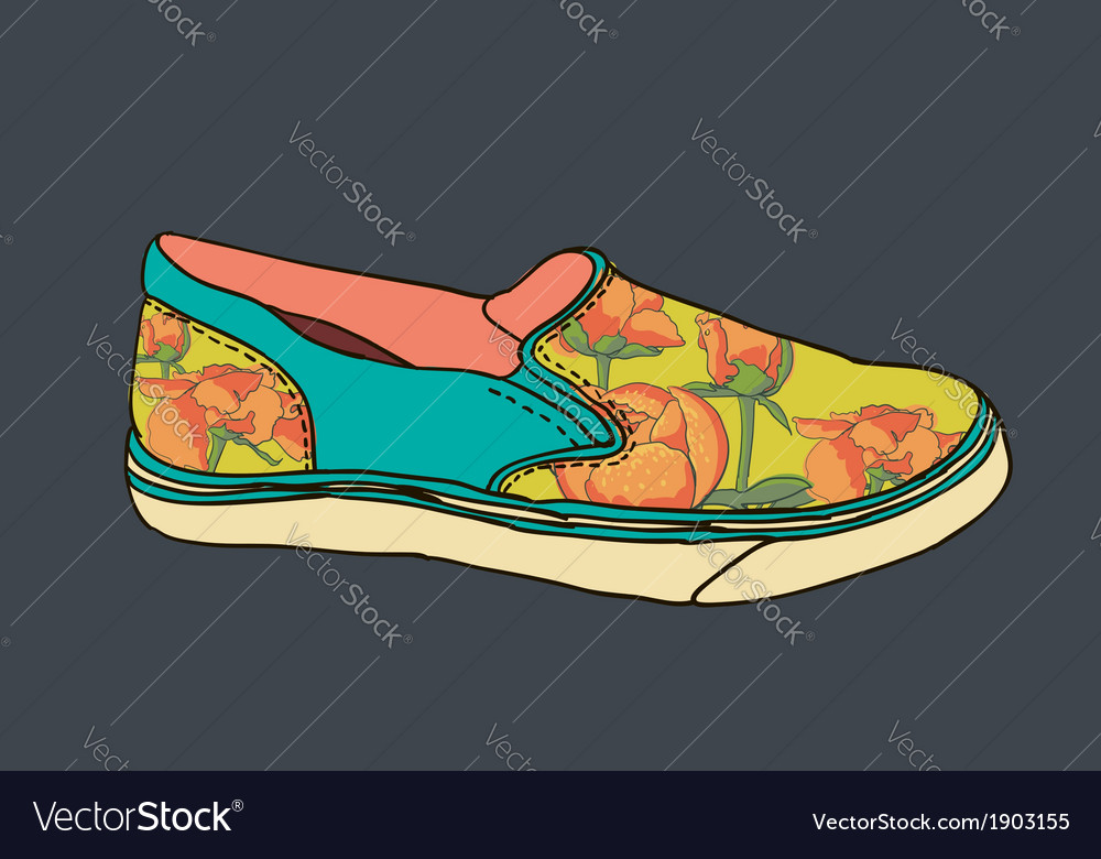 Artistic gum shoe vector | Price: 1 Credit (USD $1)