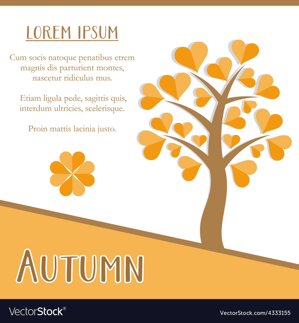 Autumn season card vector | Price: 1 Credit (USD $1)