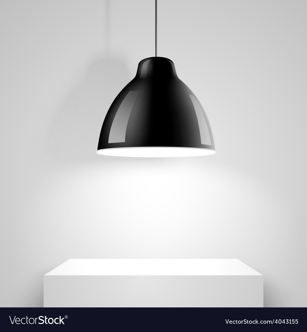 Black ceiling lamp vector | Price: 3 Credit (USD $3)