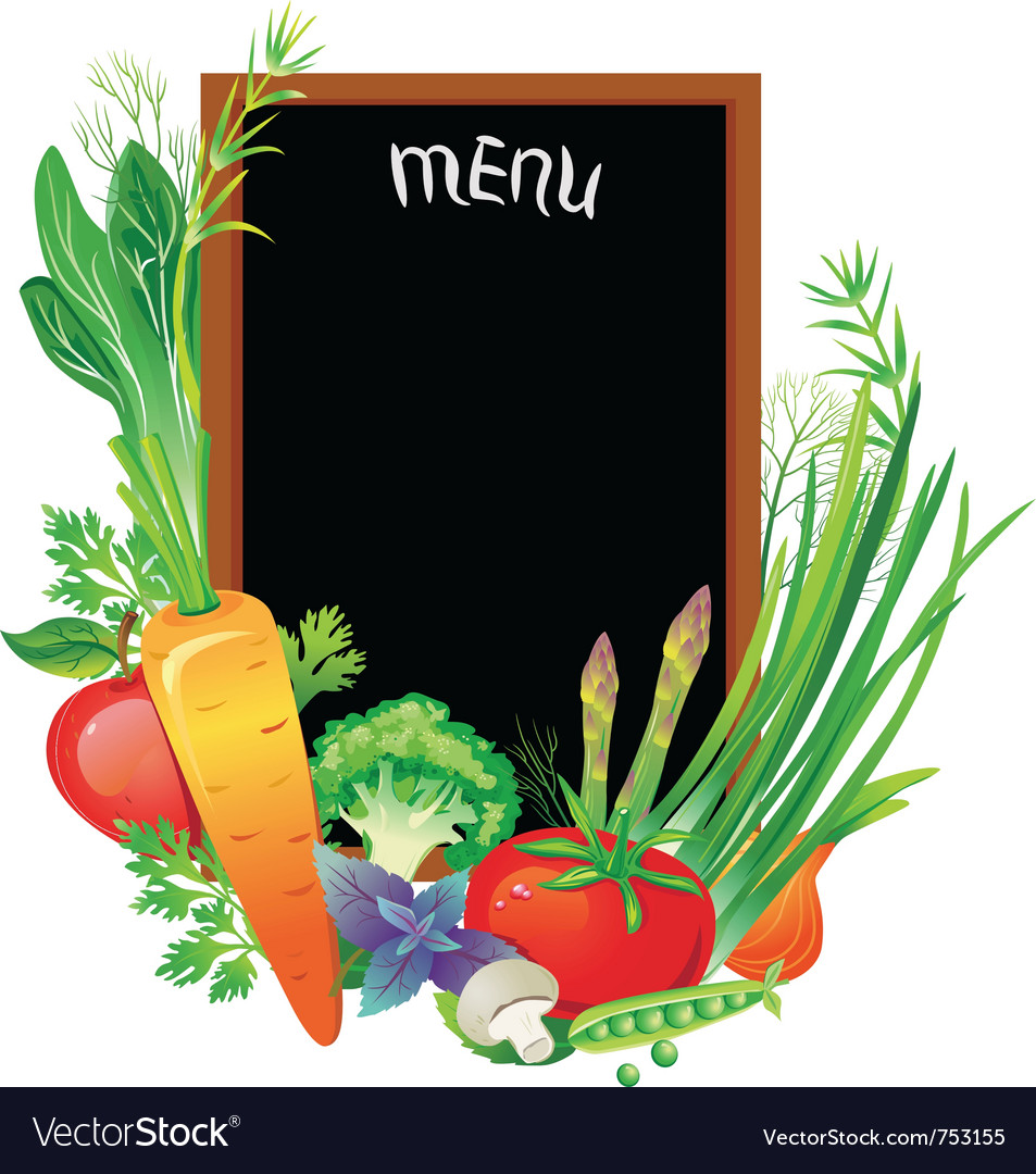 Board menu with a group of vegetables vector | Price: 3 Credit (USD $3)