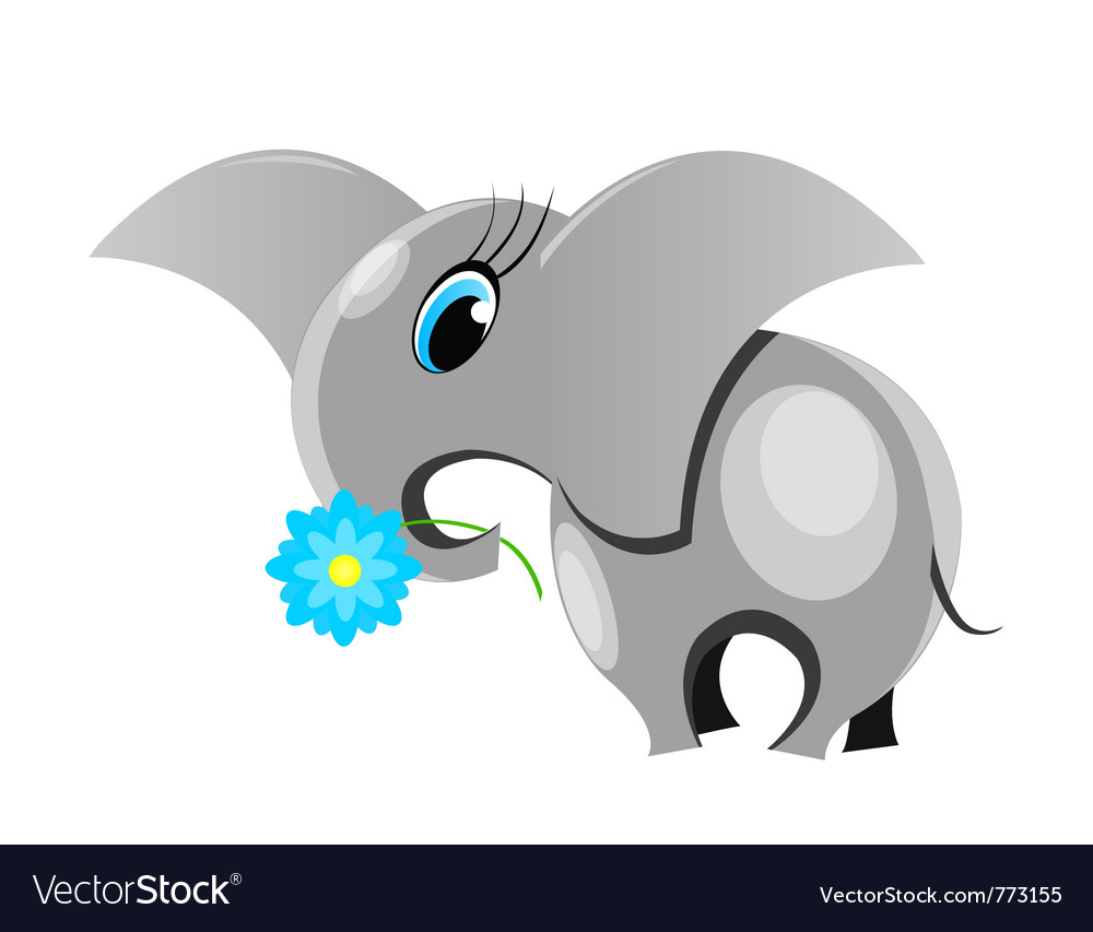 Cute elephant vector | Price: 1 Credit (USD $1)