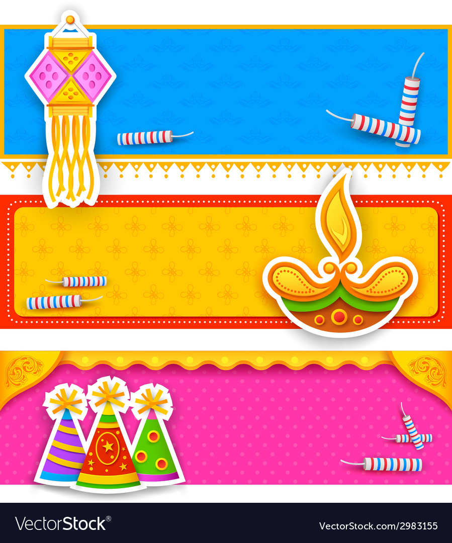 Diwali banner vector | Price: 1 Credit (USD $1)