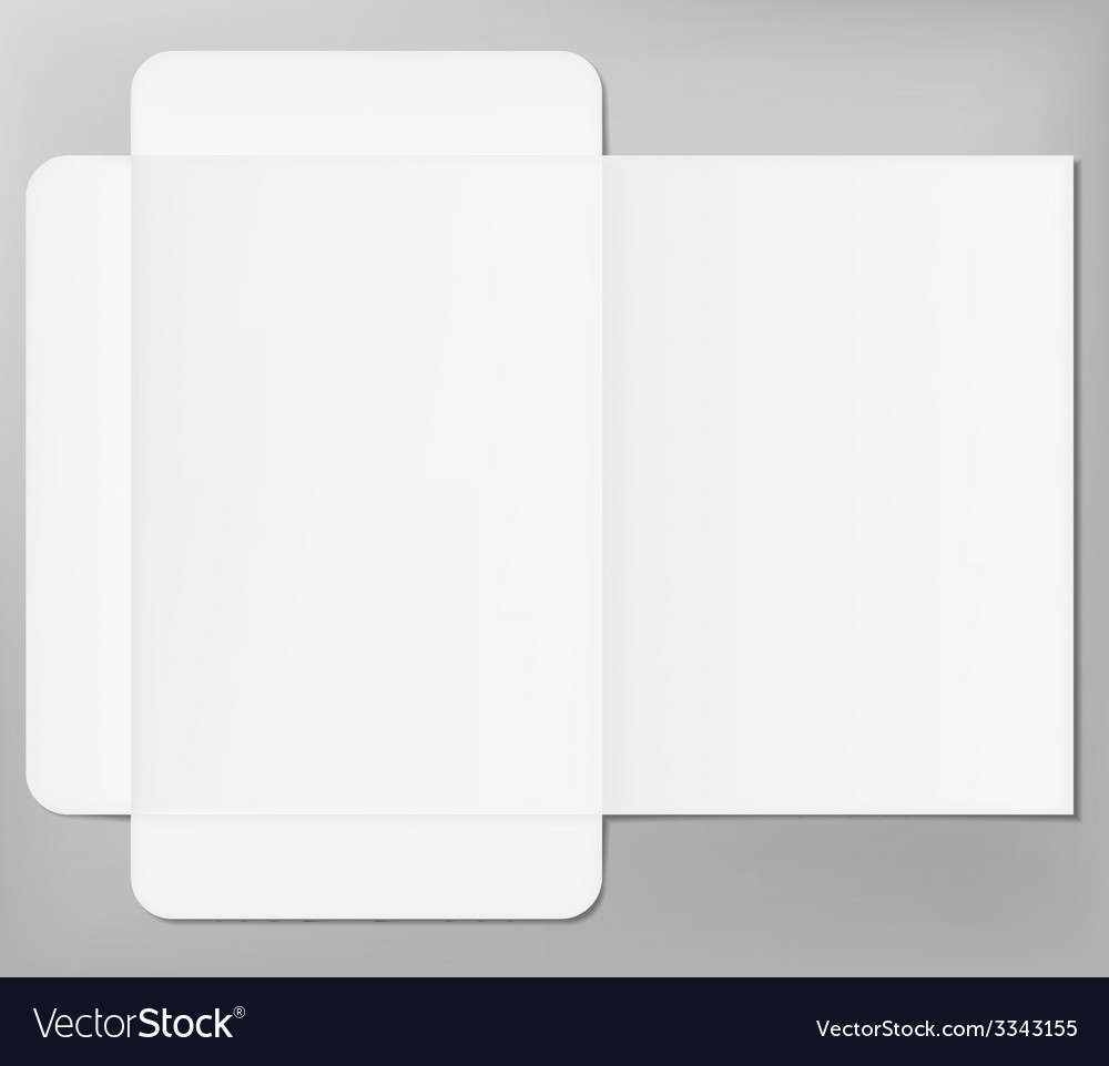Open folder mock up vector | Price: 1 Credit (USD $1)