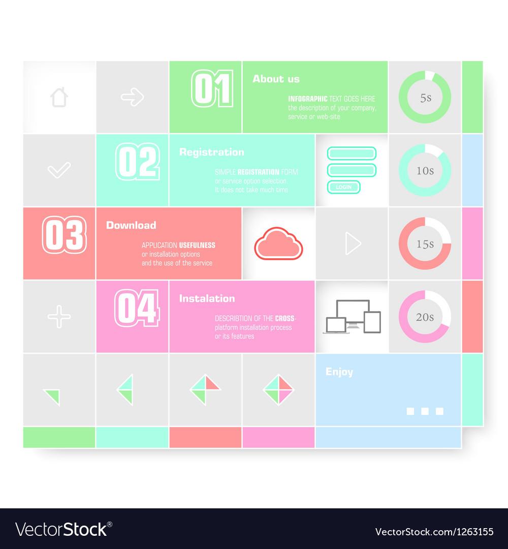 Trendy design infographic vector | Price: 1 Credit (USD $1)