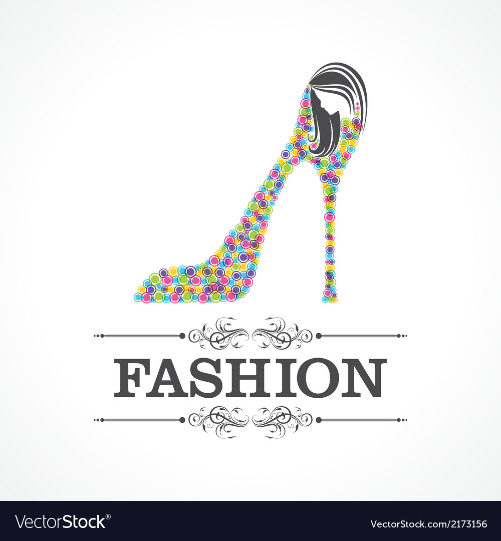 Beauty and fashion icon with shoe and face vector | Price: 1 Credit (USD $1)