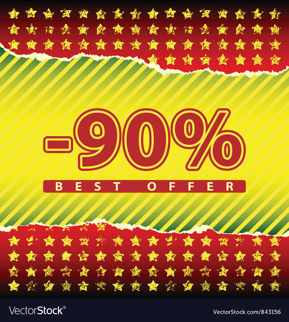 Best offer 90 percent off vector | Price: 1 Credit (USD $1)
