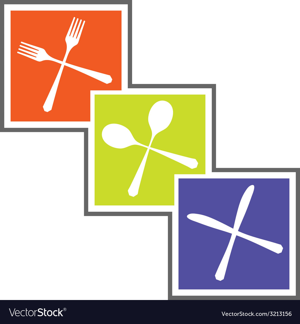 Cutlery abstract sign vector | Price: 1 Credit (USD $1)