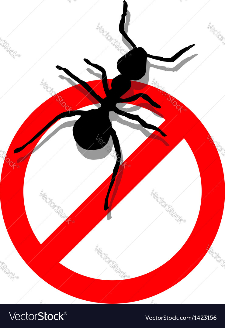 Forbidden to enter ants vector | Price: 1 Credit (USD $1)