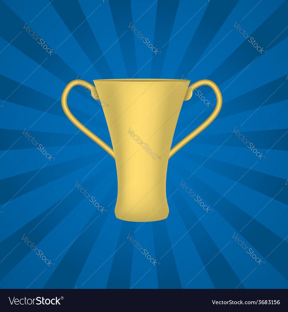 Golden trophy vector | Price: 1 Credit (USD $1)