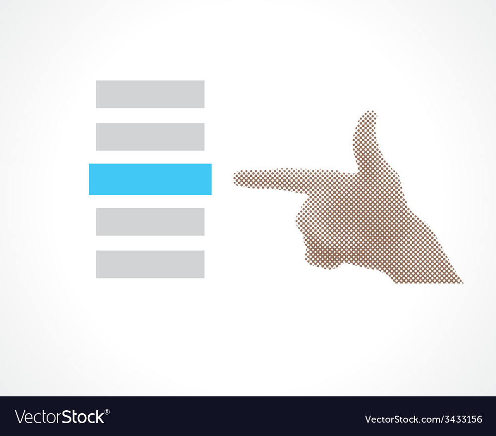 Hand selects vector | Price: 1 Credit (USD $1)