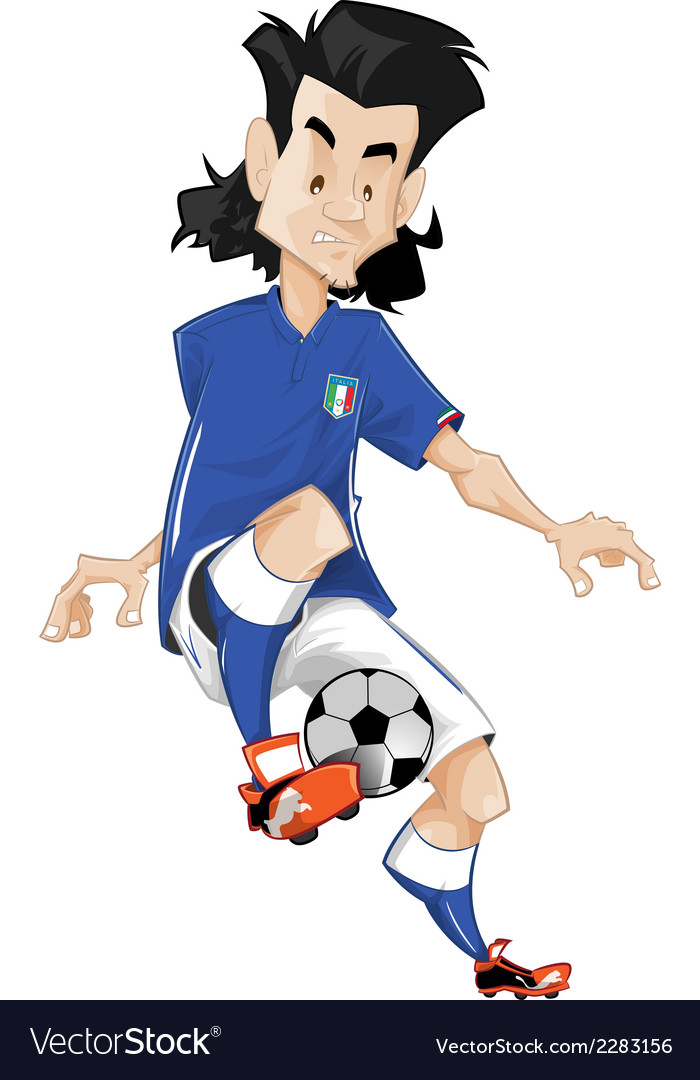 Italy soccer player vector | Price: 1 Credit (USD $1)