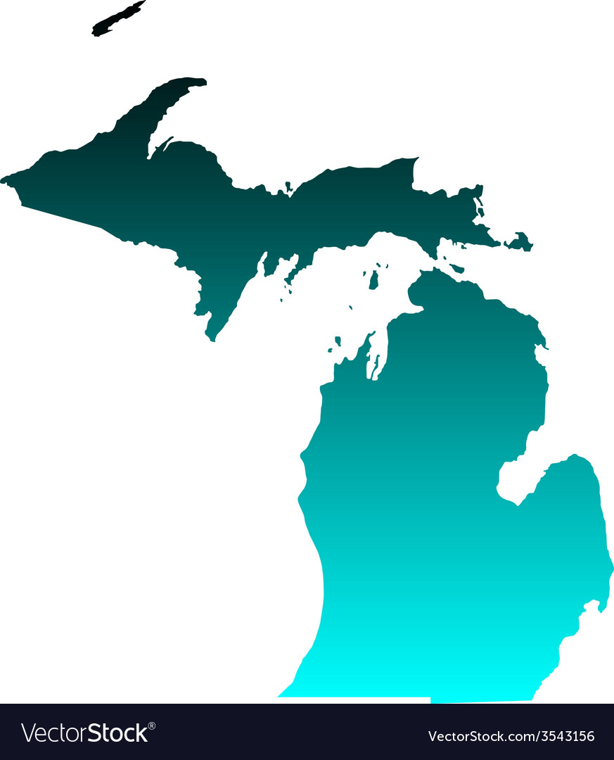 Map of michigan vector | Price: 1 Credit (USD $1)