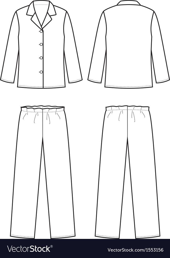 Sleepwear vector