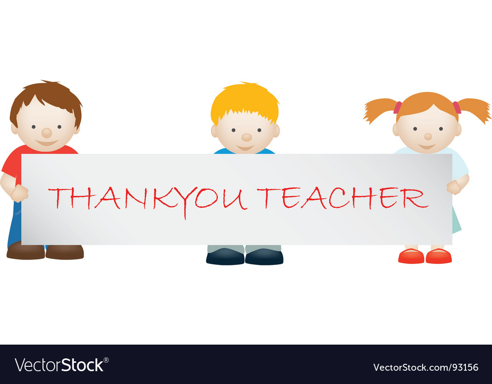 Thank you teacher vector | Price: 1 Credit (USD $1)