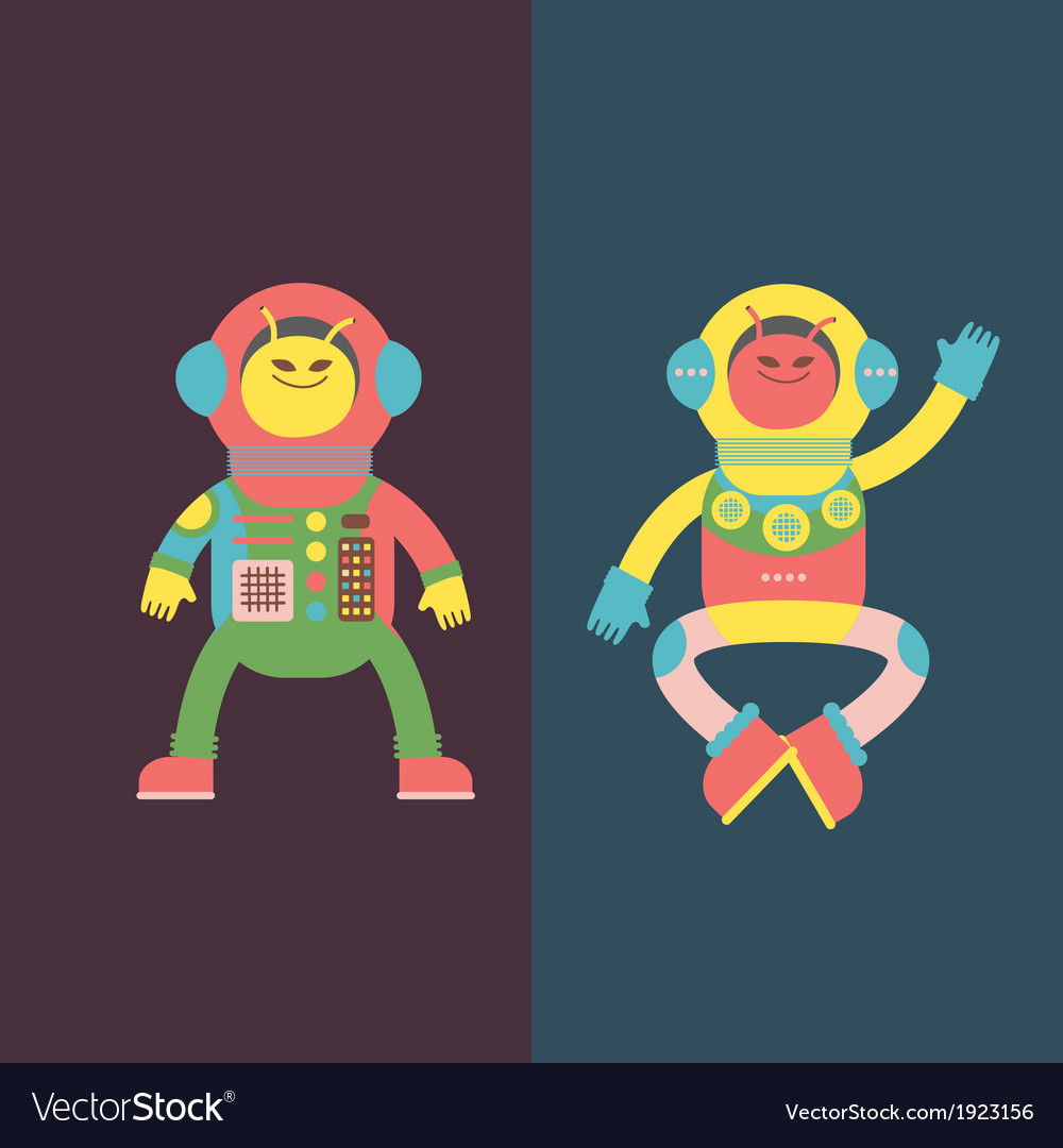 Two aliens vector | Price: 1 Credit (USD $1)
