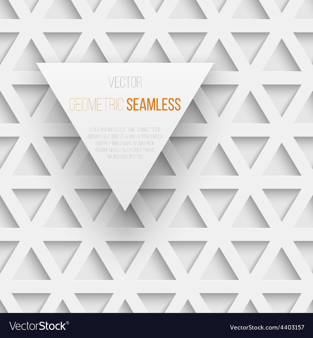 Abstract seamless geometric triangle pattern with vector | Price: 1 Credit (USD $1)