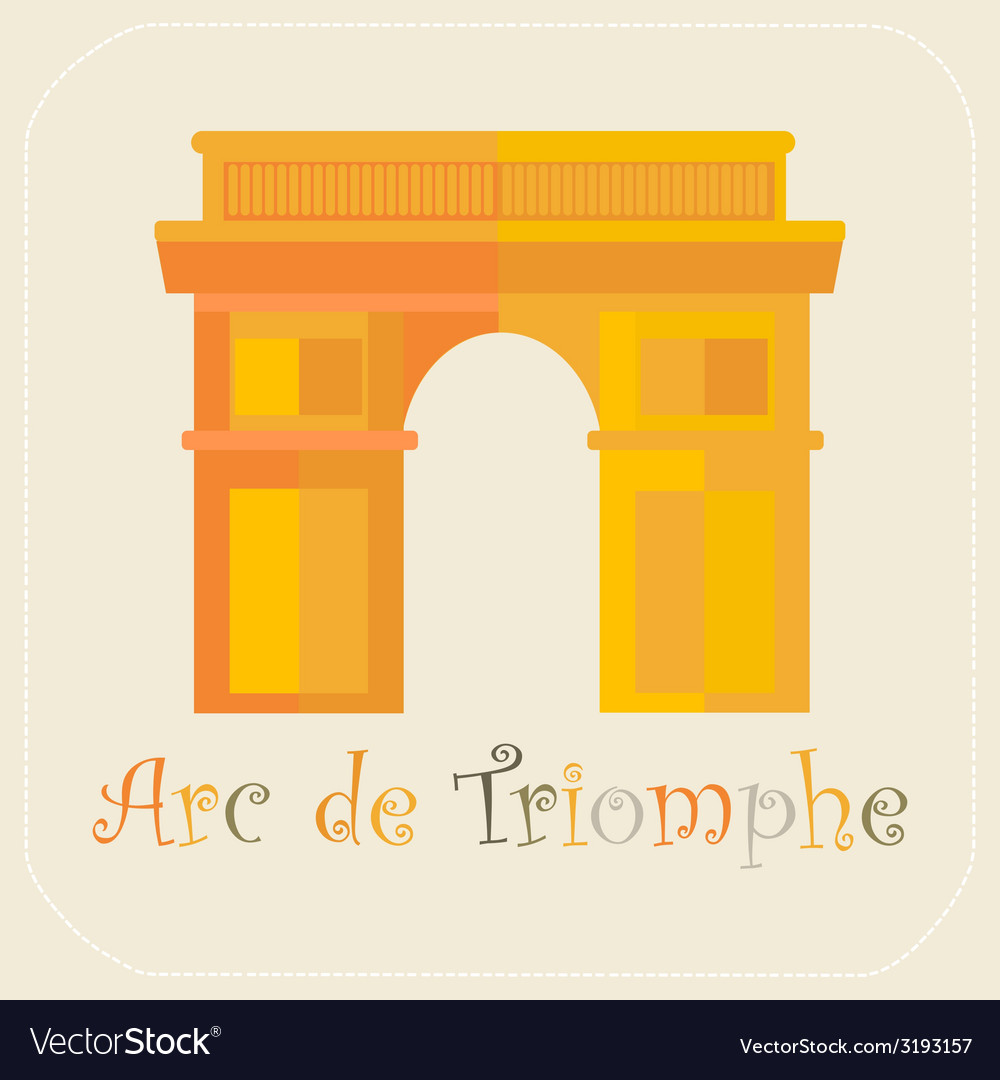 Arch of triumph icon flat vector | Price: 1 Credit (USD $1)