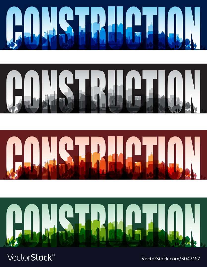 Construction banners vector | Price: 1 Credit (USD $1)